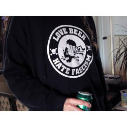 Sudadera Love Beer Hate Fascim